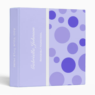 Personalized:  Purple Bubbly Binder