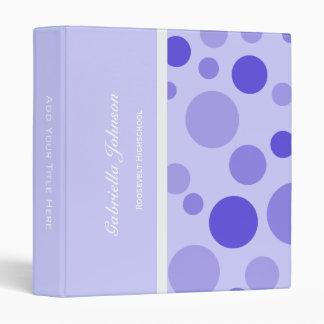 Personalized:  Purple Bubbly Binder