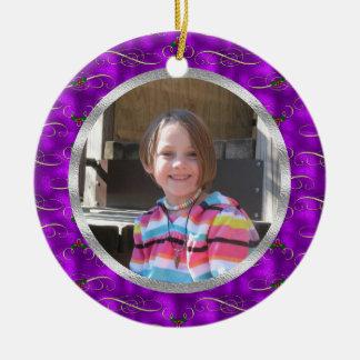 Personalized Purple Ceramic Ornament