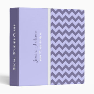 Personalized: Purple Chevron Binder