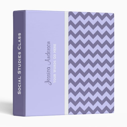 Personalized: Purple Chevron Binder