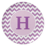 Personalized Purple Chevron Plate