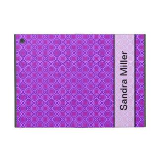 Personalized purple circle square pattern iPad mini cases