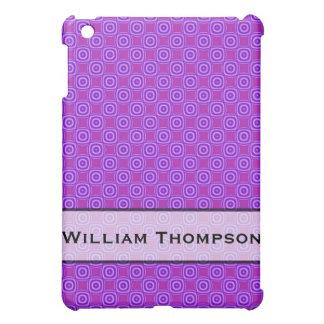 Personalized purple circle square pern iPad mini covers
