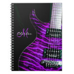 Personalized Purple Electric Guitar Music Notebook