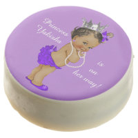 Personalized Purple Ethnic Princess Baby Shower Chocolate Covered Oreo