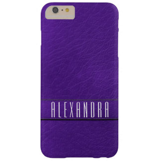 Personalized Purple Faux Leather Phone Case