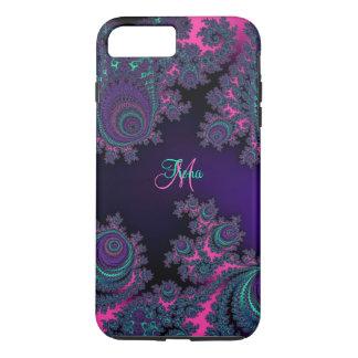 Personalized Purple Fractal iPhone 7 Plus Case
