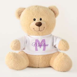 Personalized Purple Girl's Name Teddy Bear