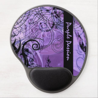 Personalized Purple Goth Pattern Gel Mouse Pad