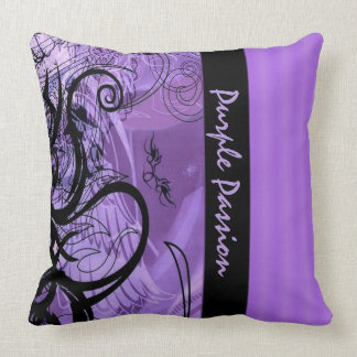 Personalized Purple Goth Pattern Throw Pillow