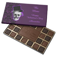 Personalized purple gothic valentines day assorted chocolates