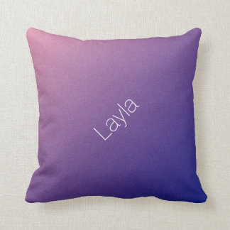 Personalized Purple Gradient Shimmer Throw Pillow