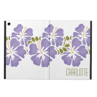 PERSONALIZED PURPLE HIBISCUS CASE FOR iPad AIR