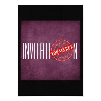 Personalized Purple Invitation Top Secret