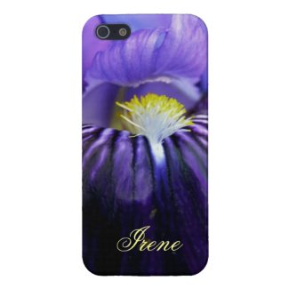 Personalized Purple Iris High Res Photo Close-Up Case For iPhone 5