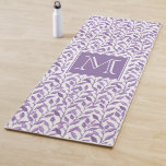 Personalized Purple Leaves Yoga Mat