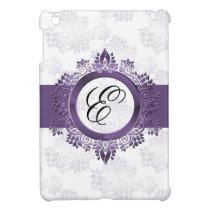 personalized purple monogram girly Ipad case