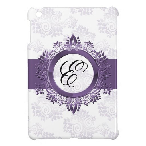 personalized purple monogram girly Ipad case Cover For The iPad Mini