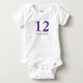 Personalized Purple Monthly Baby Baby Onesie