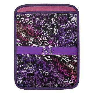 Personalized Purple Music Notes iPad Sleeve