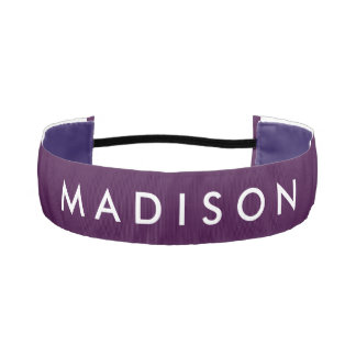Personalized Purple Non Slip Headband for Girls