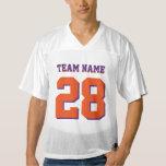 Personalized Purple Orange Football Sports Jersey