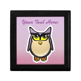 Personalized Purple Owl Cartoon With Big Eyelashes Gift Box