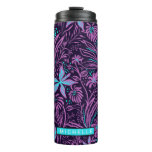 Personalized Purple Paisley Thermal Tumbler