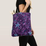 Personalized Purple Paisley Tote Bag