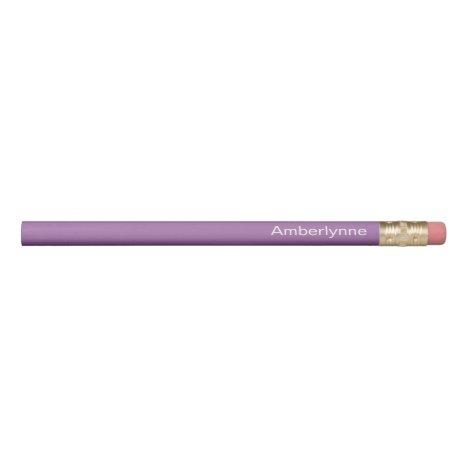 Personalized Purple Pencil