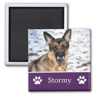 Personalized  Purple Pet Photo Magnet