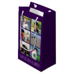 Personalized Purple Photo Mosaic Picture Collage Small Gift Bag