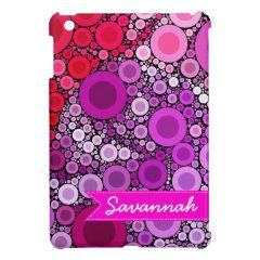 Personalized Purple Pink Circles iPad Mini Case