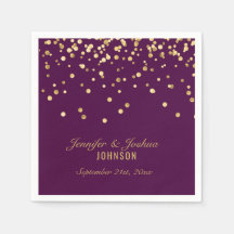 Gold /& Purple Stripes Take Some Confetti Personalised Wedding Sign