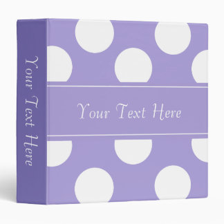 Personalized Purple Polka Dot Binder