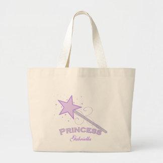 Personalized Purple Princess Wand Tote