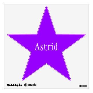 Personalized Purple Star Room Sticker