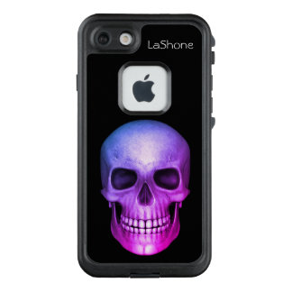 Personalized Purple Tinted Skull LifeProof FRĒ iPhone 7 Case