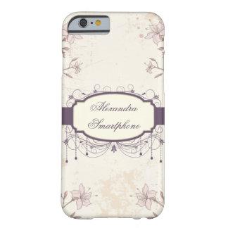 Personalized purple vintage floral iPhone 6 case