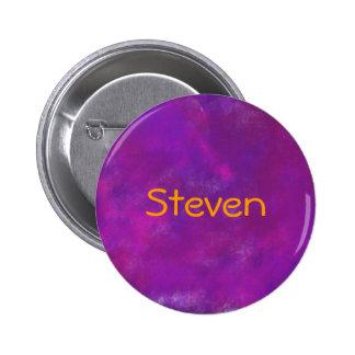 Personalized Purple Watercolor Pinback Button