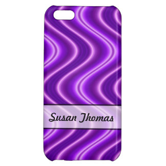 Personalized Purple Wave Design iPhone 5C Case