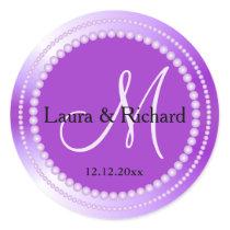 Personalized Purple Wedding Monogram Seals