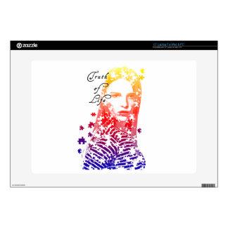 """Personalized puzzle creative Lady portrait Designs 15"""" Laptop Decals"""