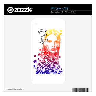 Personalized puzzle creative Lady portrait Designs Skins For iPhone 4