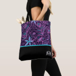 Personalized QMBH Purple Paisley Tote Bag