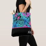 Personalized QMBH Tropical Leaves Tote Bag