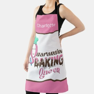 Personalized Quarantine Baking Queen Apron