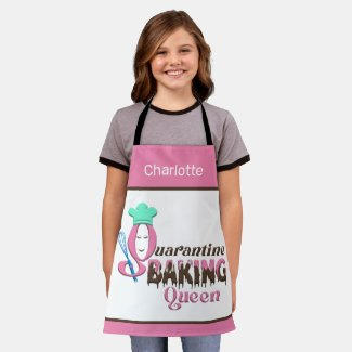 Personalized Quarantine Baking Queen Kids Apron