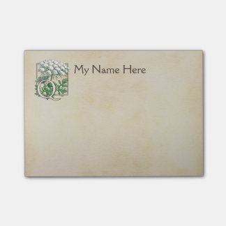 Personalized Queen Anne's Lace Monogram Post-it® Notes